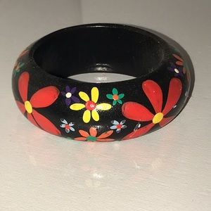 Hand painted black bracelet